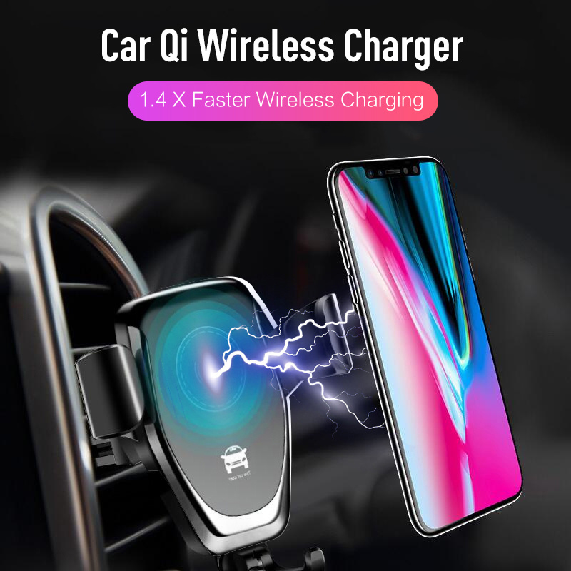 best loved fb1ed 3d83d 10w Qi Wireless Charger for IPhone X/XS Max XR 8Plus Fast Wireless Charging  Pad for Samsung S8 S9+ Note9 8 Car Holder Charger