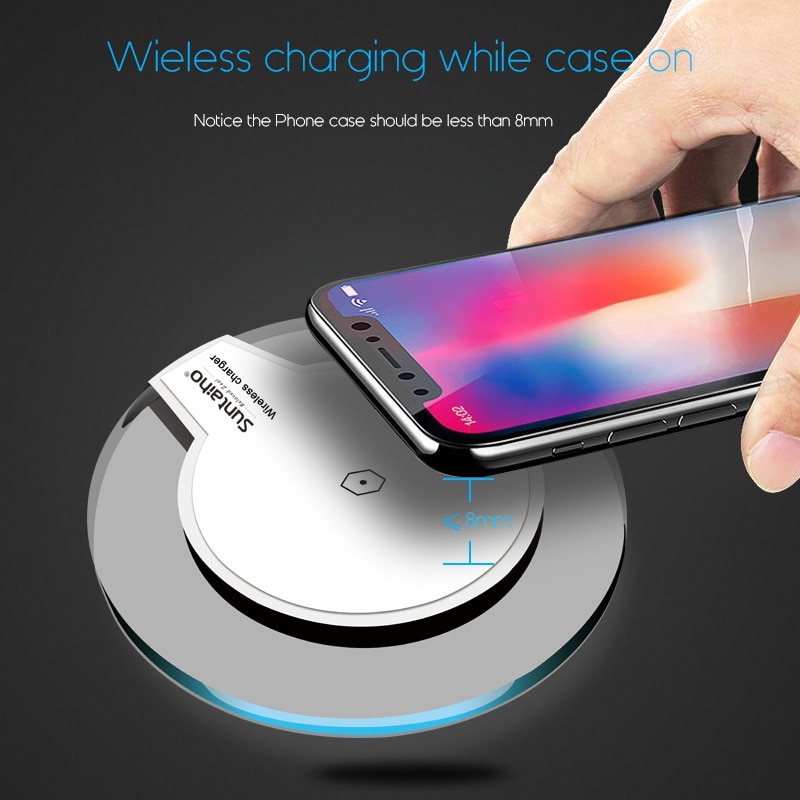 another chance 14bac 21d00 Qi Wireless Charger for Samsung Galaxy S9 S8 Plus Suntaiho Fashion Charging  Dock Cradle Charger for iphone XS MAX XR 8Plus phone
